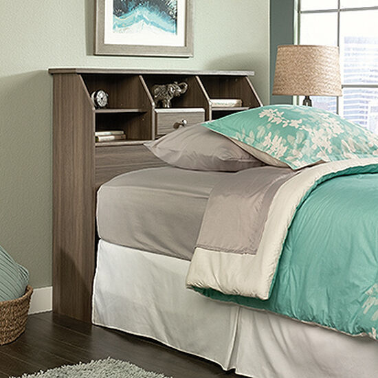 "Transitional 42"" Twin Bookcase Headboard in Diamond Ash"