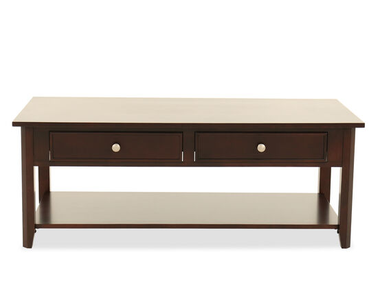 Two-Drawer Transitional Cocktail Tablein Espresso