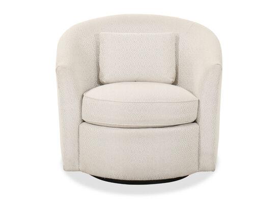 "Transitional 35"" Swivel Chair in Beige"