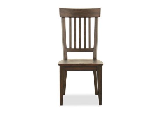 Rake Back Side Chair in Dark Brown