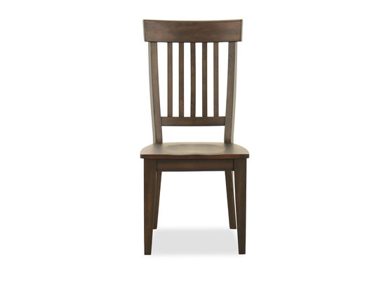 Rake Back Side Chair in Dark Brown