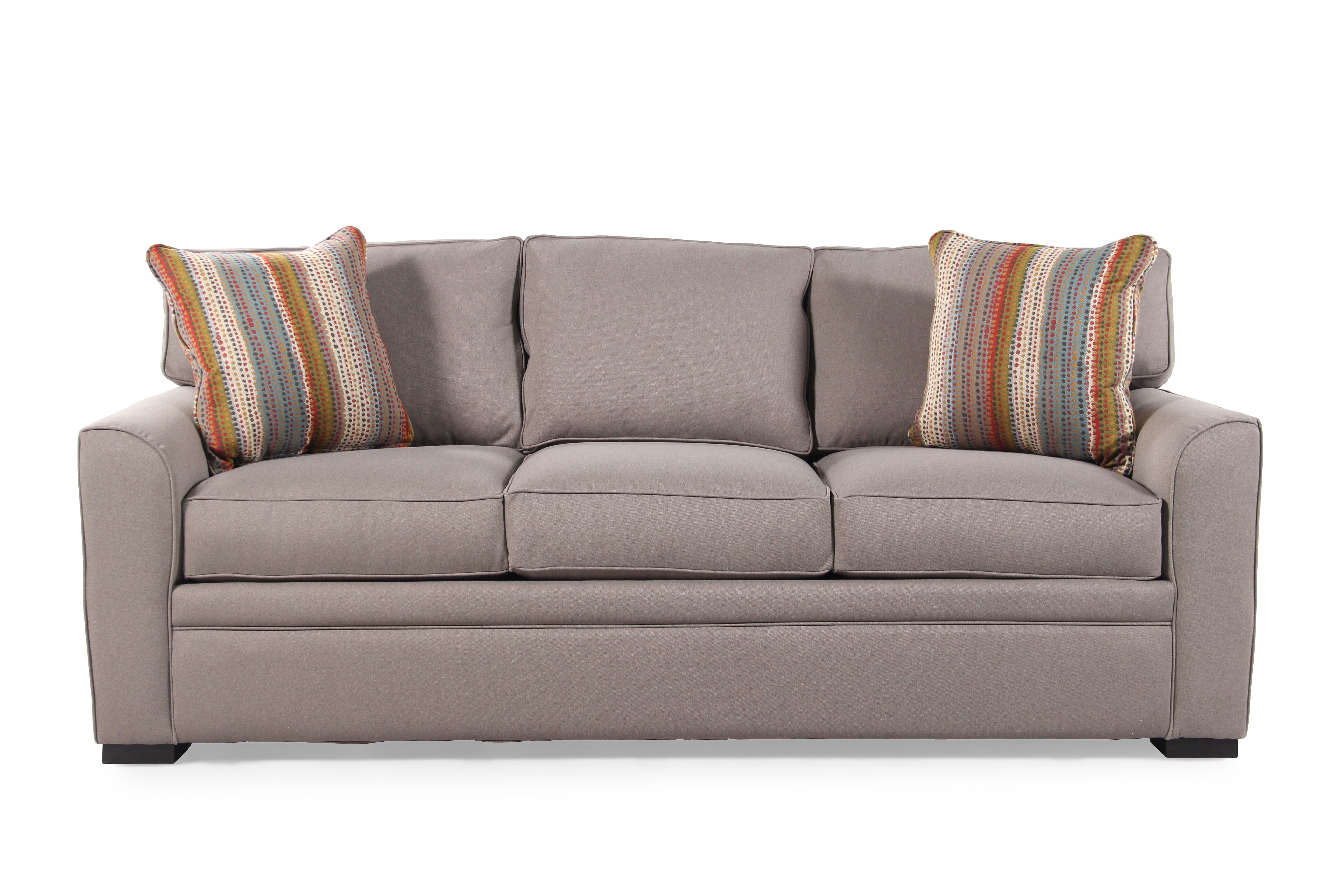 Traditional 83 Queen Sleeper Sofa in Caf Au Lait Mathis Brothers