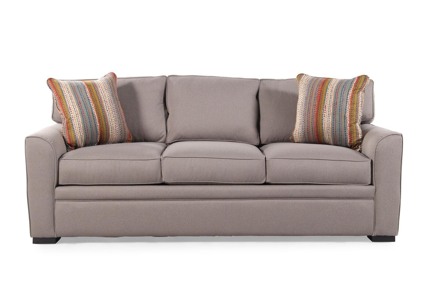 traditional sleeper sofa. Traditional 83\u0026quot; Queen Sleeper Sofa In Caf\u0026eacute; Au Lait C