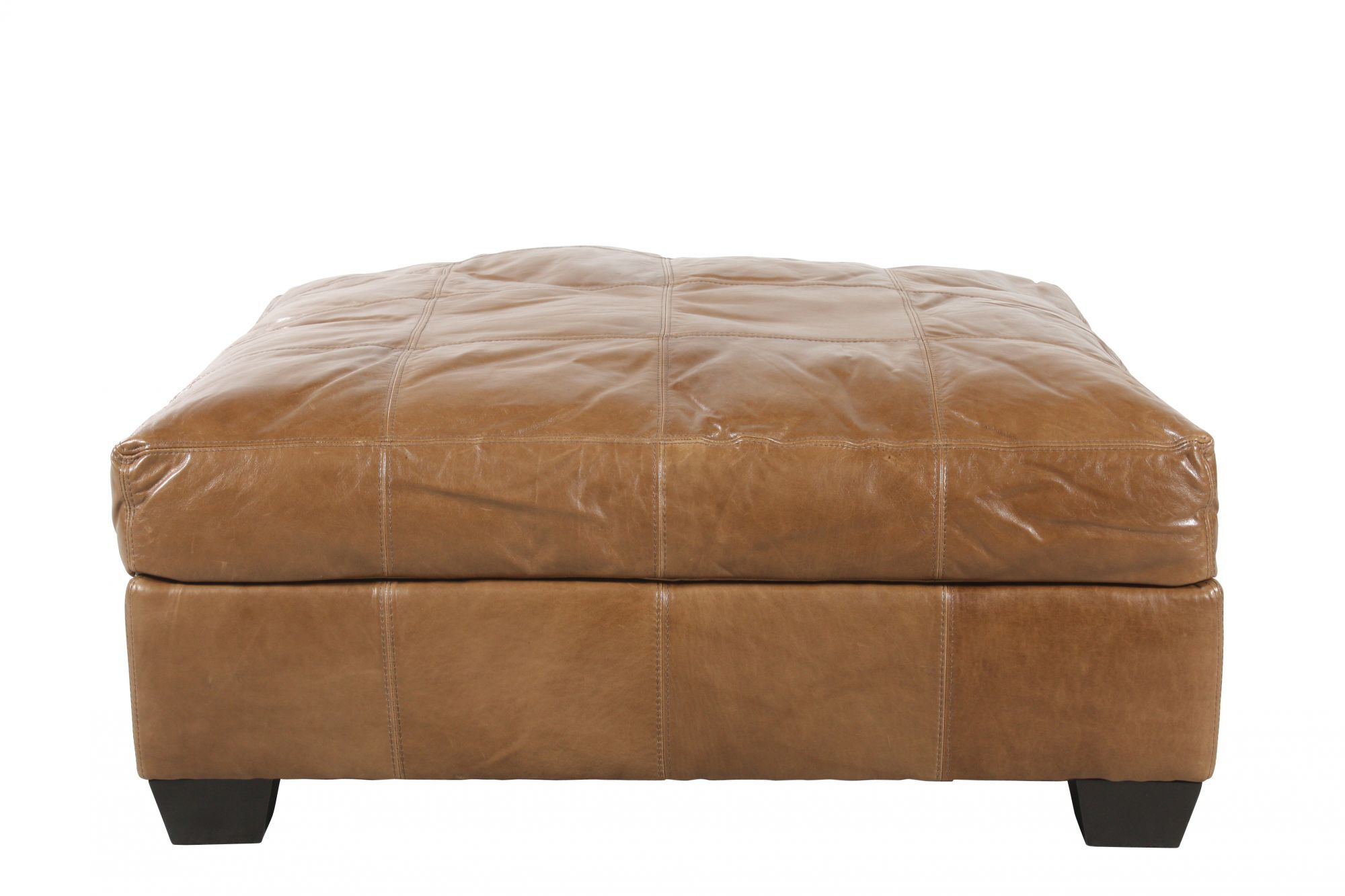 Traditional 42u0026quot; Leather Ottoman ...  sc 1 st  Mathis Brothers : jonathan louis chaise lounge - Sectionals, Sofas & Couches