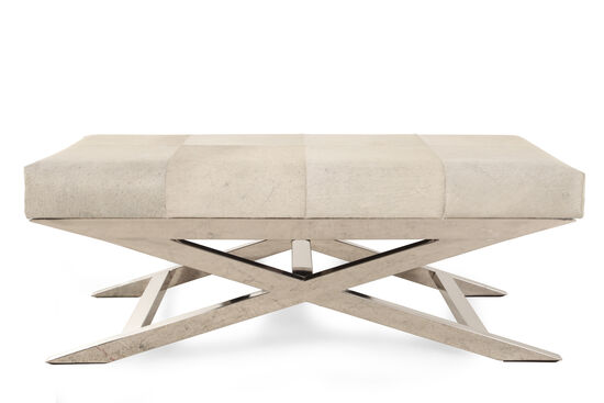 "Modern 47"" Accent Bench in Cream"