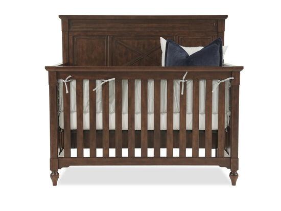 Paneled Convertible Crib in Dark Brown