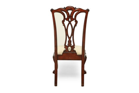 Engraved Traditional Desk Chair in Cherry