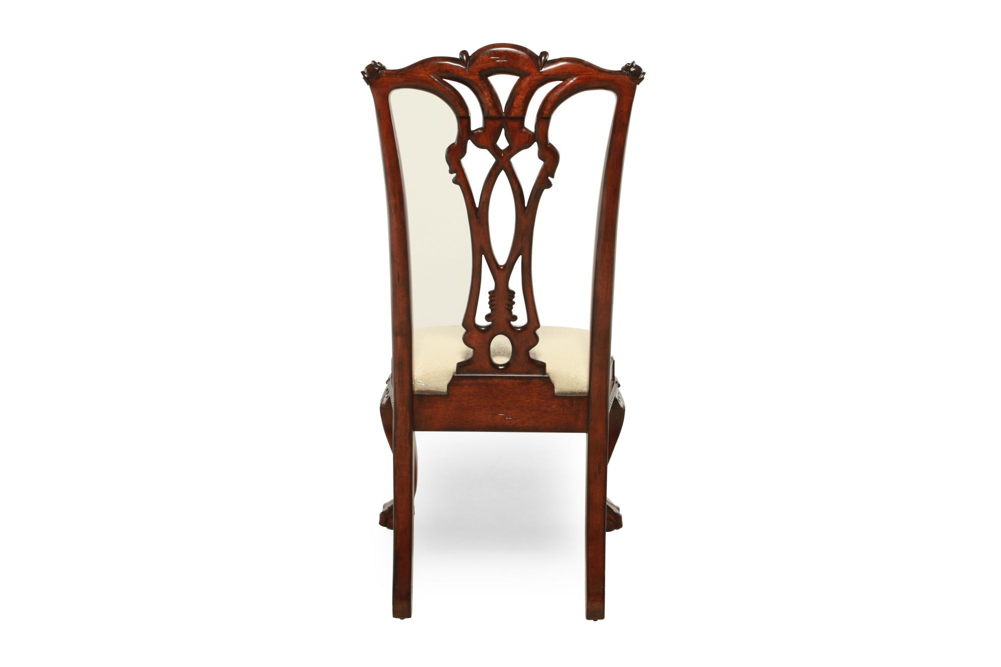 Charming Engraved Traditional Desk Chair In Cherryu0026nbsp;