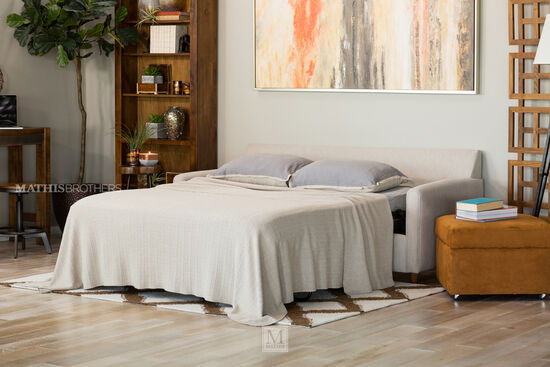 Two-Piece Casual Sleeper Sectional in Cream
