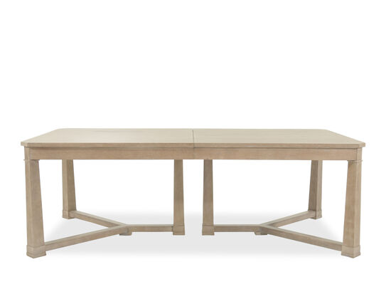 """Traditional 47"""" Solid Parawood Rectangular Dining Table in Ceruse Oak"""