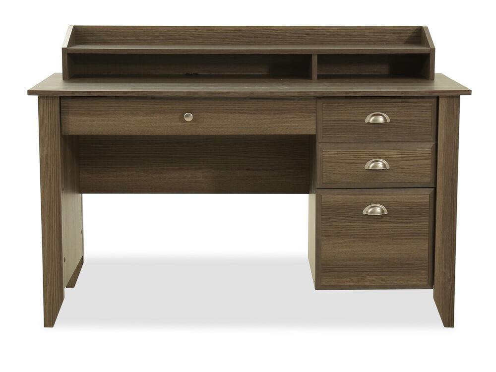 "53"" Casual Three-Drawer Desk in Diamond Ash"