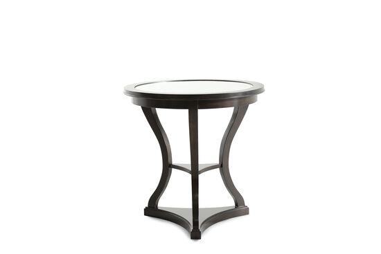 Round Metropolitan End Table in Brown