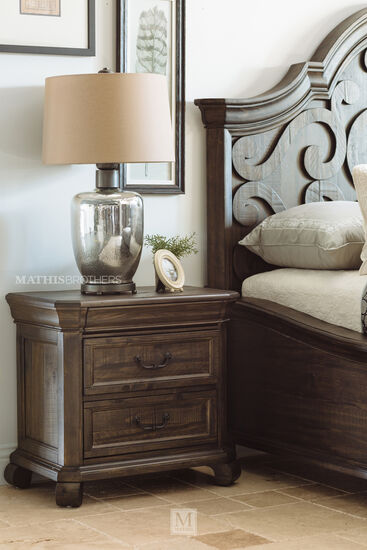 "28"" Contemporary Weathered Nightstand in Brown"