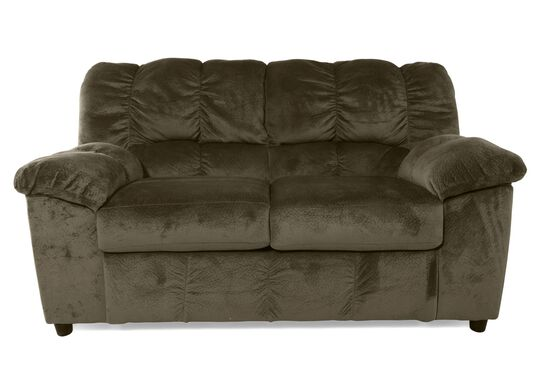 """Contemporary 66"""" Loveseat in Green"""