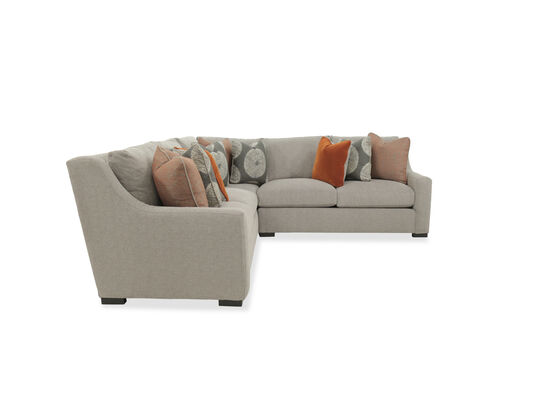 """Three-Piece Casual 140"""" Sectional in Gray"""