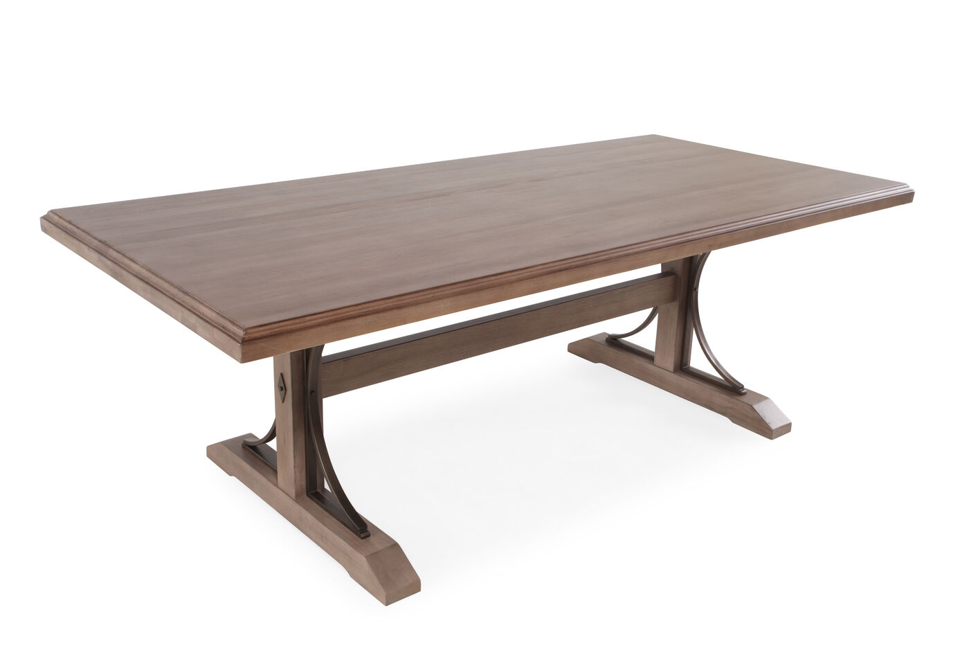 Transitional Solid Wood Double Pedestal Dining Table In Matte - Solid oak double pedestal dining table