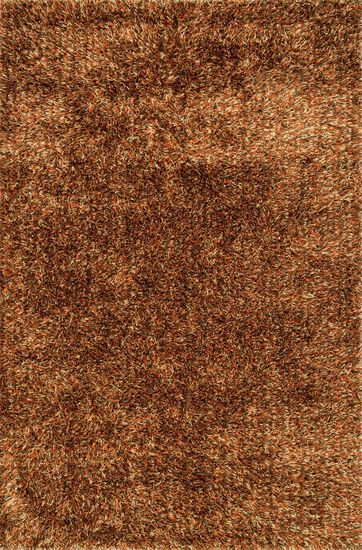 "Shags 7'-9""x9'-9"" Rug in Spice"