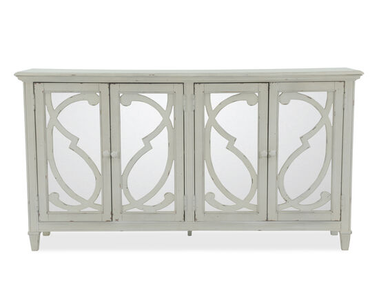 36'' Filigree Doors Casual Accent Cabinet in Gray