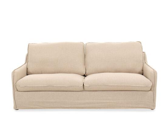 Two-Cushion Casual 86'' Sofa in Beige