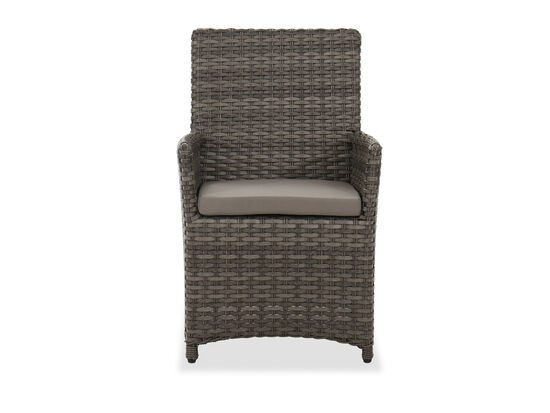 Contemporary Patio Dining Chair in Dark Gray