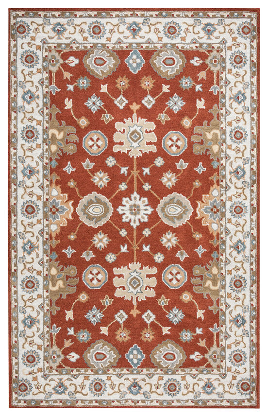 """Traditional Hand-Tufted 2'6""""  x  8' Runner Rug in Rust"""
