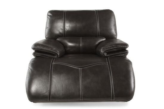 "Contemporary 44"" Power Glider Recliner in Gray"