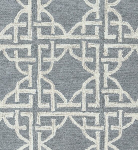 "Transitional Hand-Tufted 2'6""  x  8' Runner Rug in Blue"