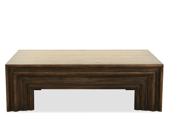 Casual Rectangular Cocktail Table in Dark Wood