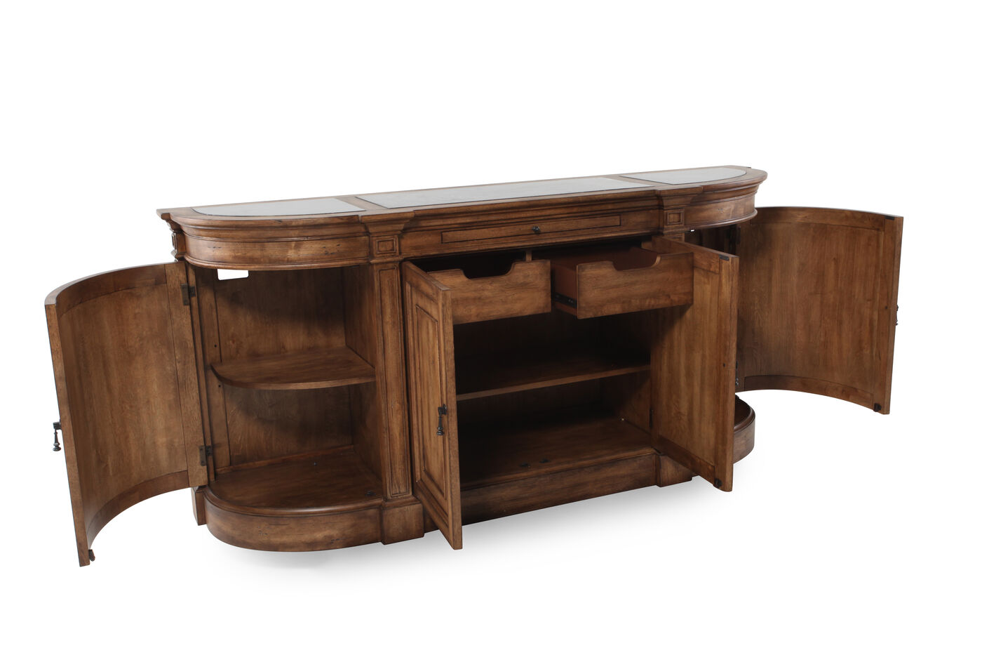 Four door 80 sideboard in pecan mathis brothers furniture for 80s furniture
