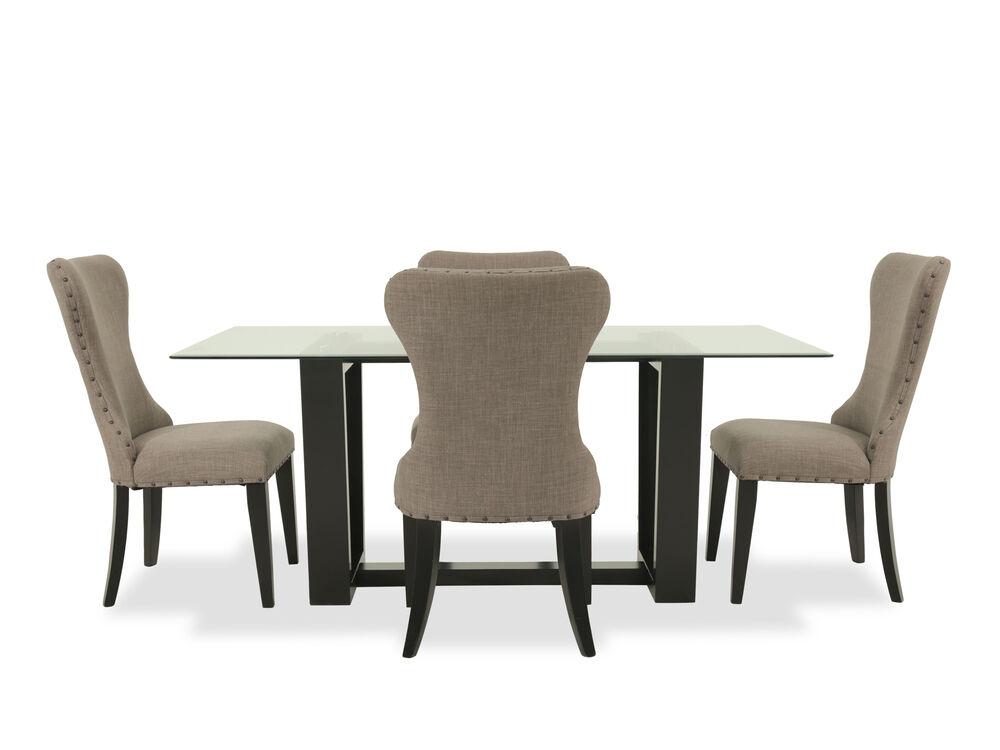 Five-Piece Contemporary 70'' Dining Set in Dark Espresso
