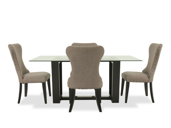 Five-Piece Contemporary 70'' Dining Set in Dark Espresso