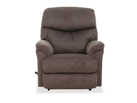 Channeled Back Casual 37'' Rocking Recliner in Brown
