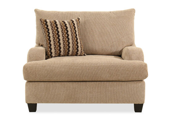 """49"""" Traditional Accent Chair in Brown"""