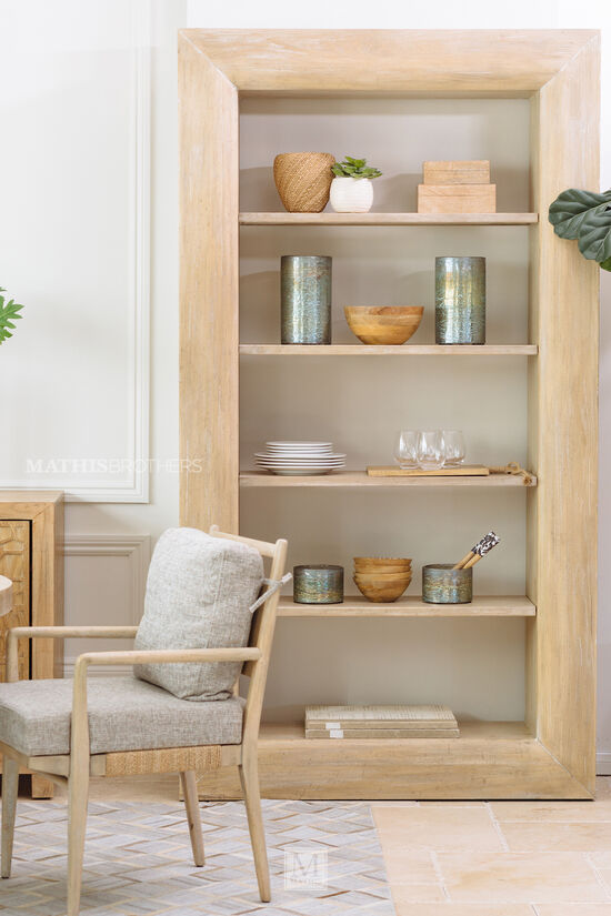 "48"" Casual Étagère in Buff Almond"