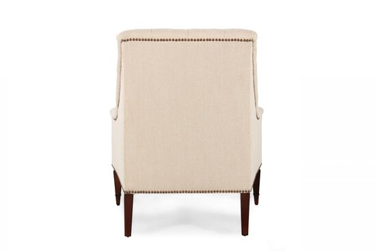 """Button-Tufted Traditional 33"""" Chair in Cream"""