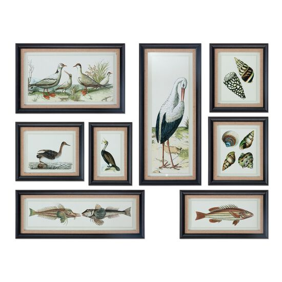 Eight-Piece Collage Printed Framed Wall Art Set