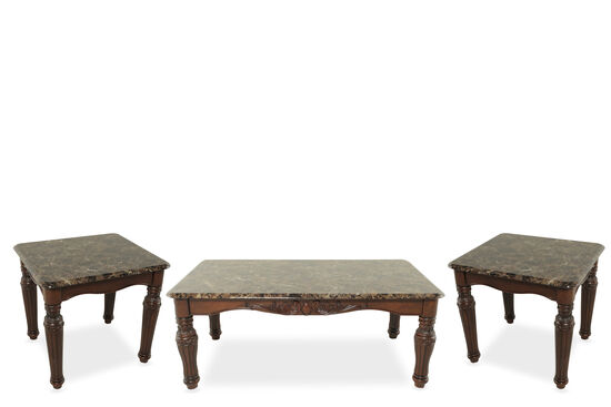 Three-Piece Traditional Table Set in Cherry