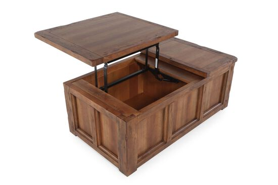 Lift-Top Contemporary CocktailTable in Brown