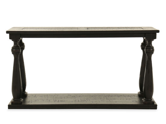 Turned Legs Casual Sofa Table in Black