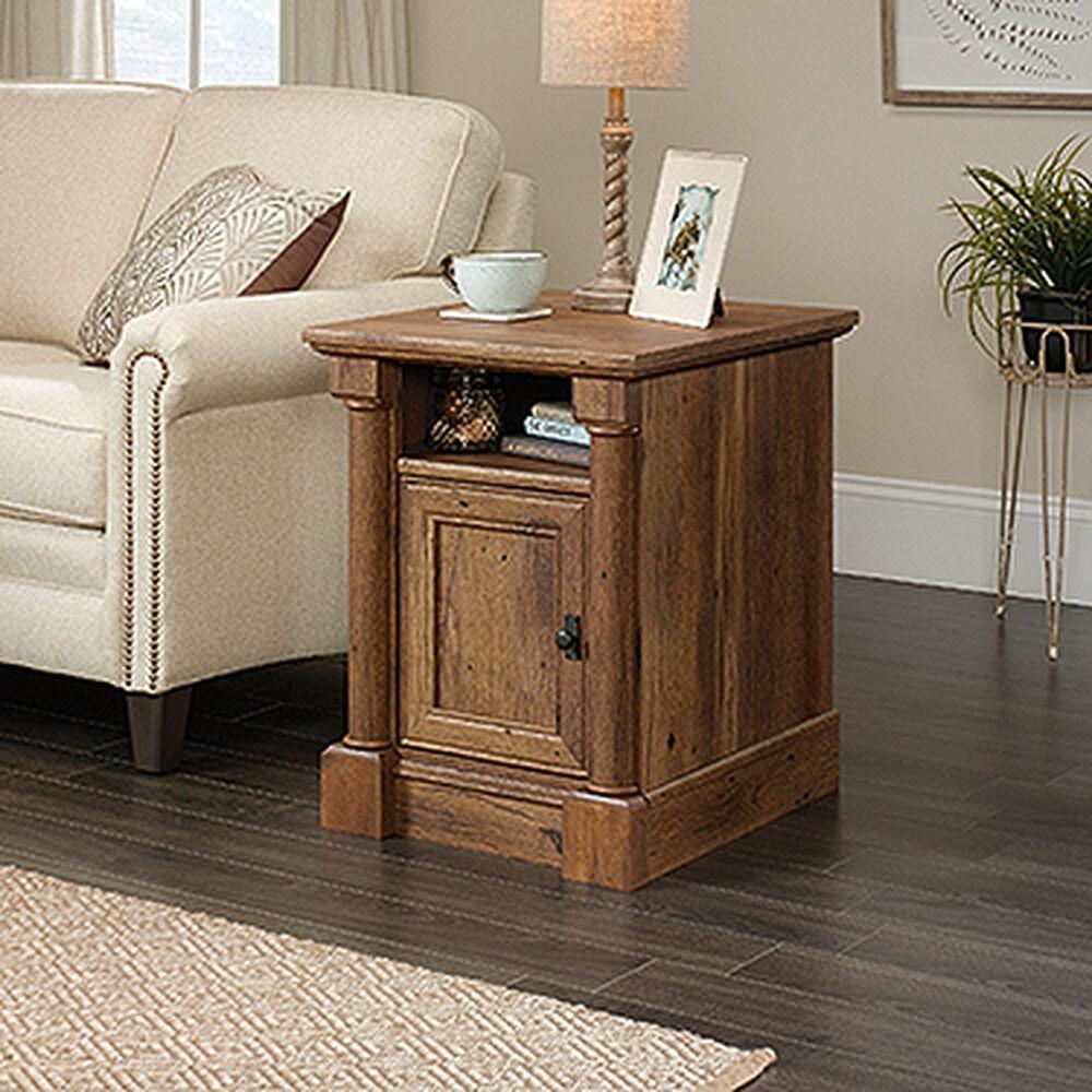 Reversible Door Contemporary Side Table In Vintage Oak
