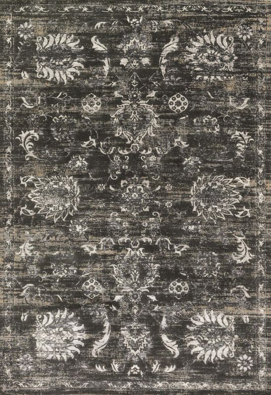 """Transitional 5'-3""""x7'-6"""" Rug in Charcoal/Silver"""