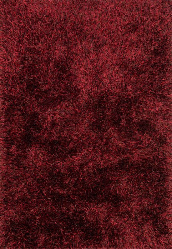 """Shags 5'-0""""x7'-6"""" Rug in Red"""