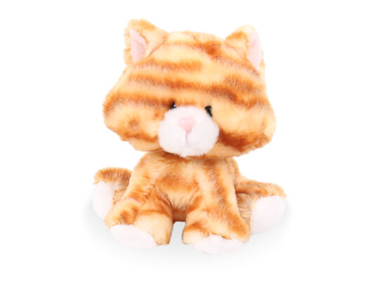 "6"" Wobbly Bobblee Plush Cat Toy in Brown"