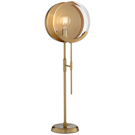 Maddox Brass Magnifying Table Lamp