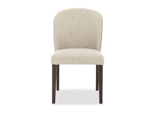 "Transitional 25"" Armless Dining Chair in Brown"