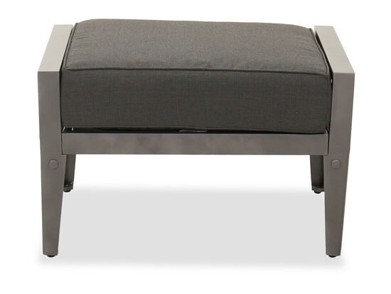 Casual Aluminum Patio Ottoman in Gray