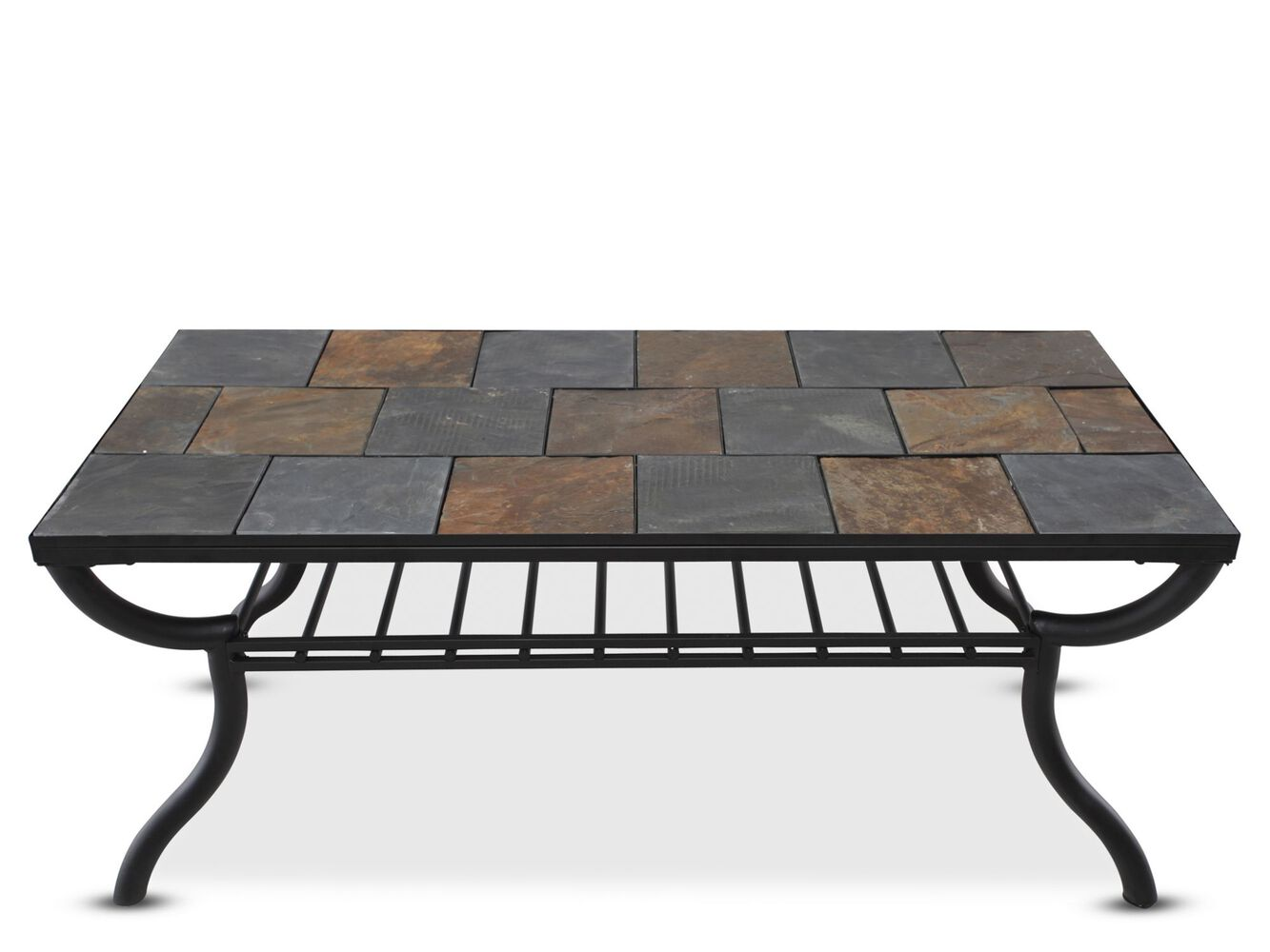 Tile top rectangular cocktail table in gunmetal mathis brothers tile top rectangular cocktail tablenbspin gunmetal geotapseo Choice Image