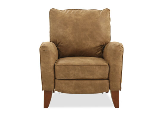 "40"" Leather Wall Saver Recliner in Brown"
