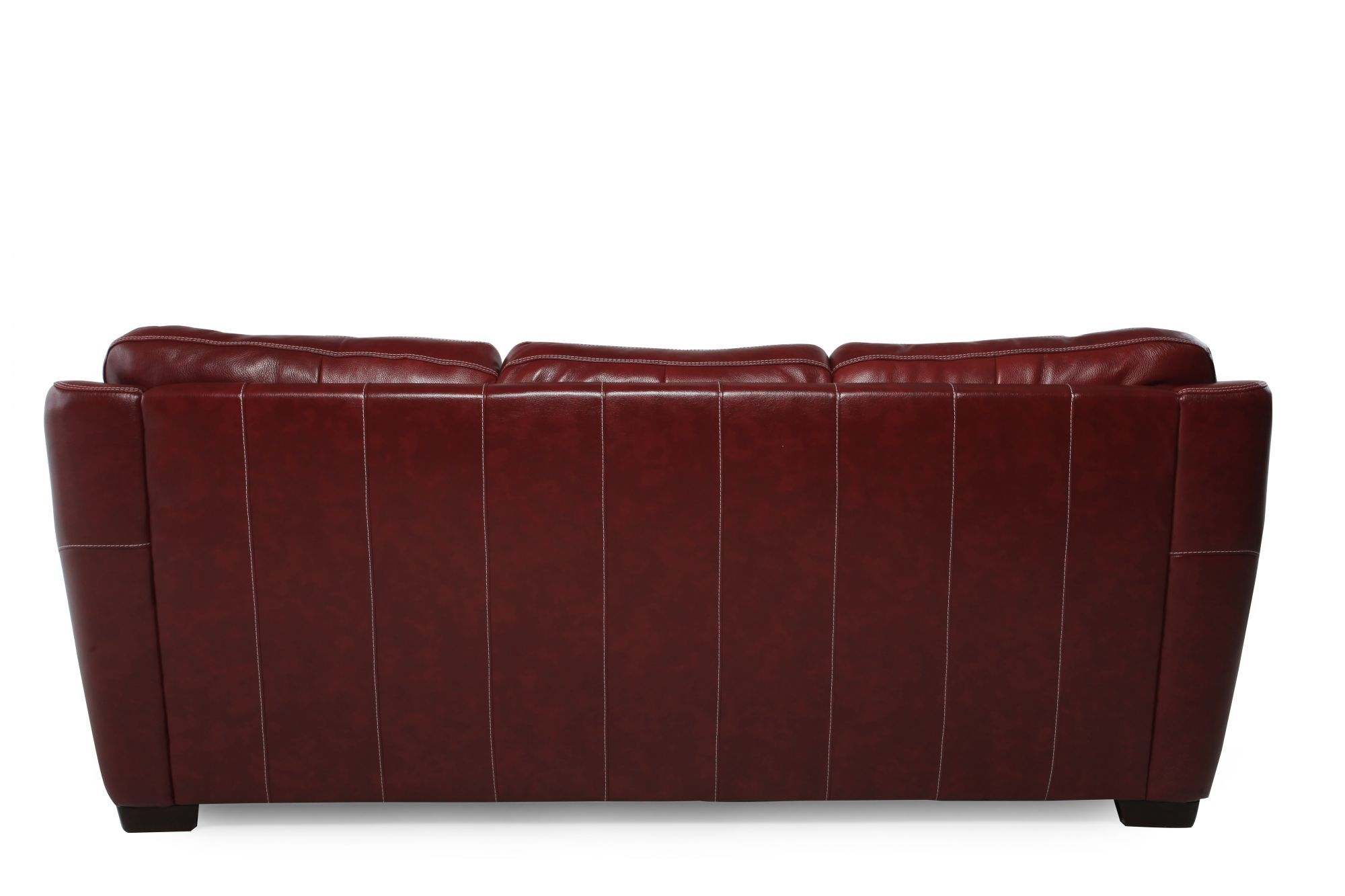 Low Profile 37 Leather Sofa In