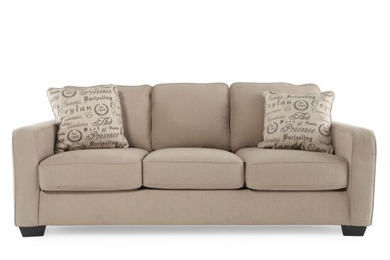 "Casual 84"" Sofa in Mushroom"